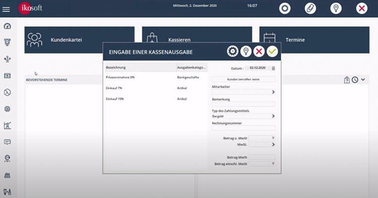 Das Kassensystem Ikosoft bietet eine barrierefreie Kassierlösung