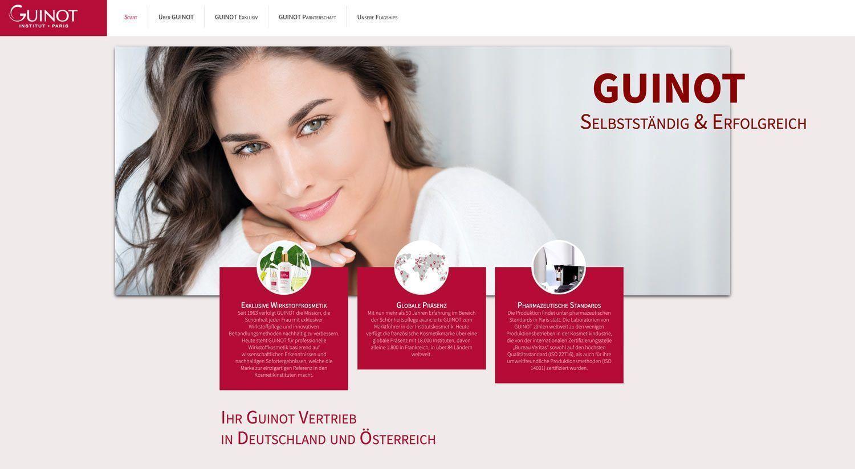 Guinot-Institute bekommen einen eigenen Internetauftritt